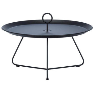 Eyelet Tray Table Black 70 cm