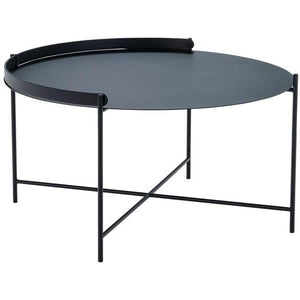 Edge Tray Table Black 76cm