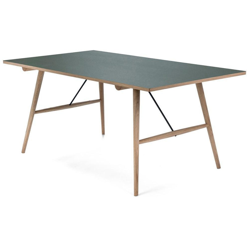Hekla Dining  Table Green Top 168cm