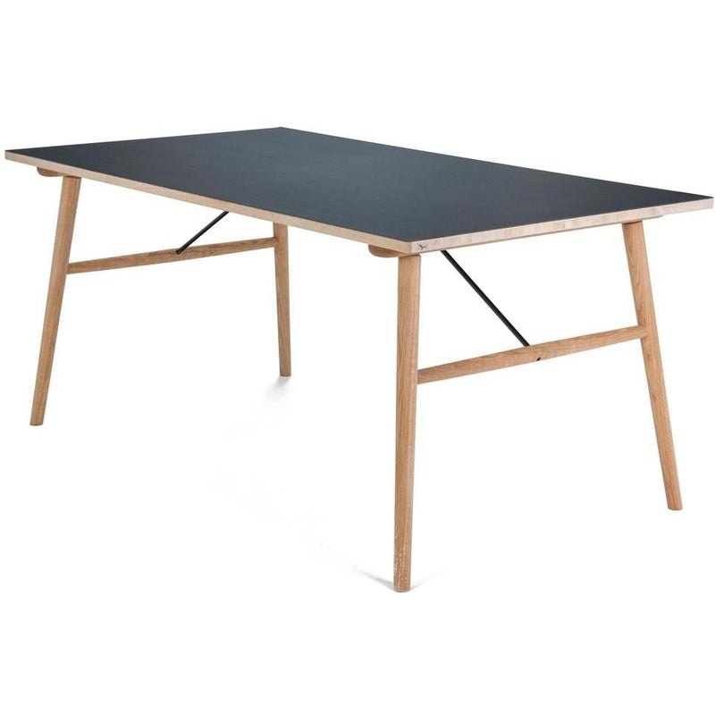 Hekla Dining Table Black Top 208cm