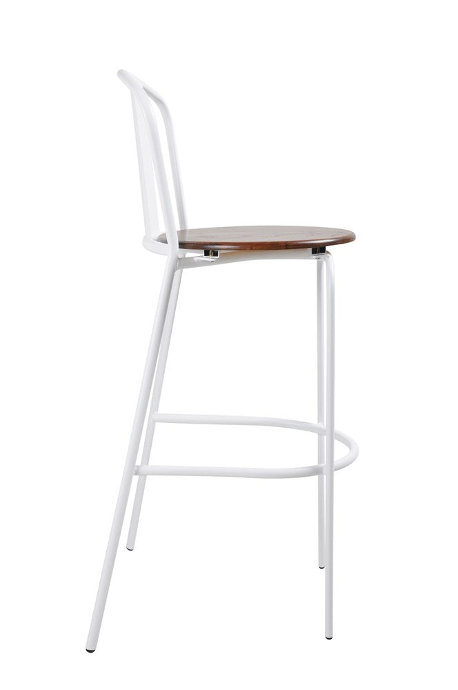 Poppy Barstool White