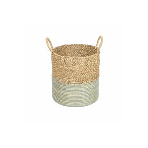 Basket 2-Tone Natural/Mystic Blue