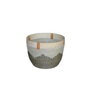 Tribal Planter with Wooden Rim - Large