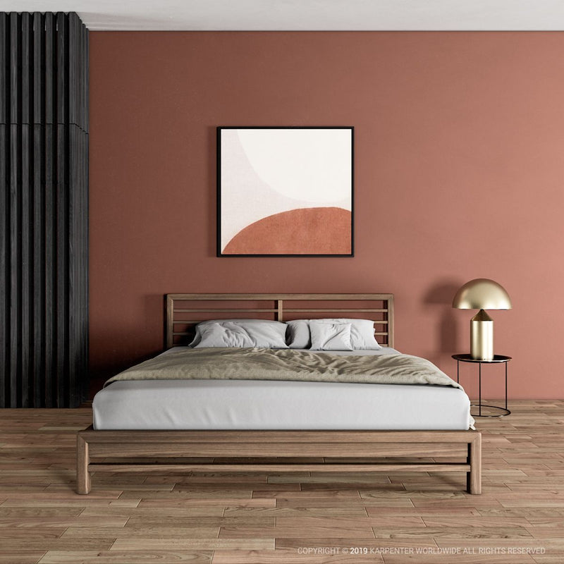 Jun Queen Bed - European Oak