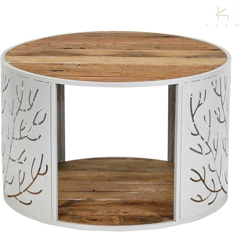 Coral Round Coffee Table White