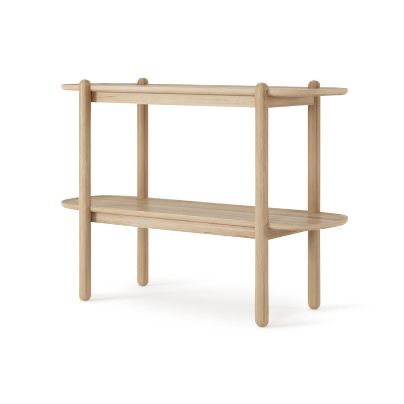 East Console with Shelf European Oak