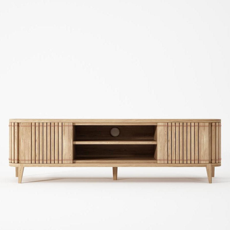 Koppar Media Cabinet with 2 Doors - European Oak