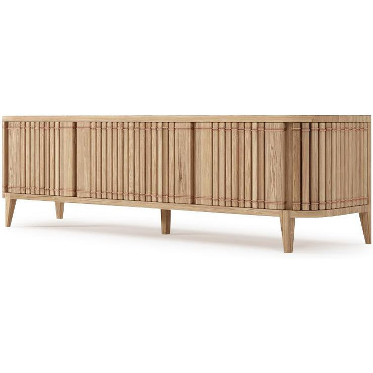 Koppar Media Cabinet with 3 Doors - European Oak
