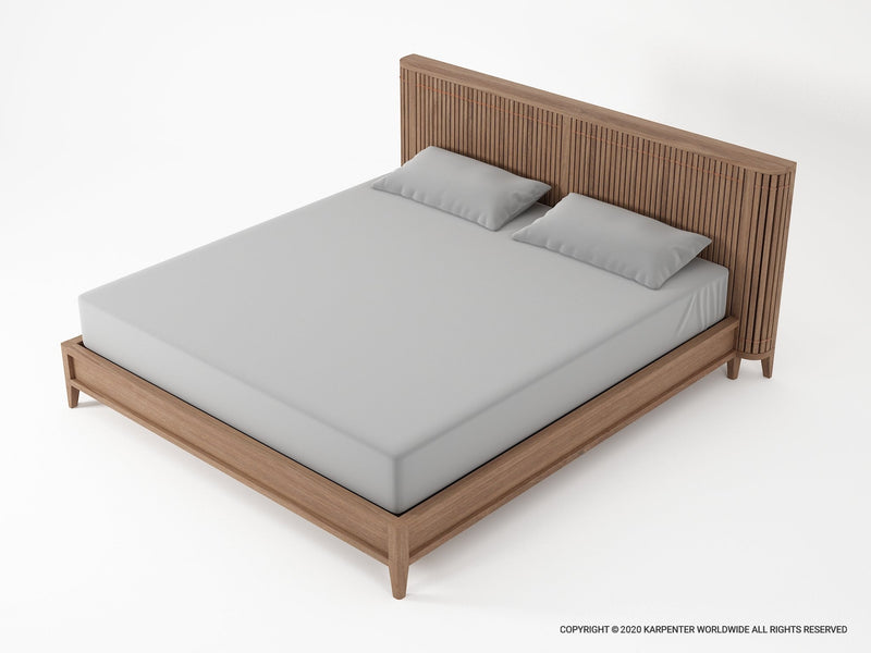 Koppar Queen Bed without Storage - FSC Recycled Teak