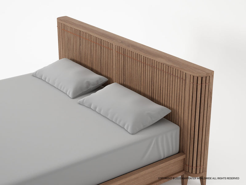 Koppar King Bed without Storage - FSC Certified Teak