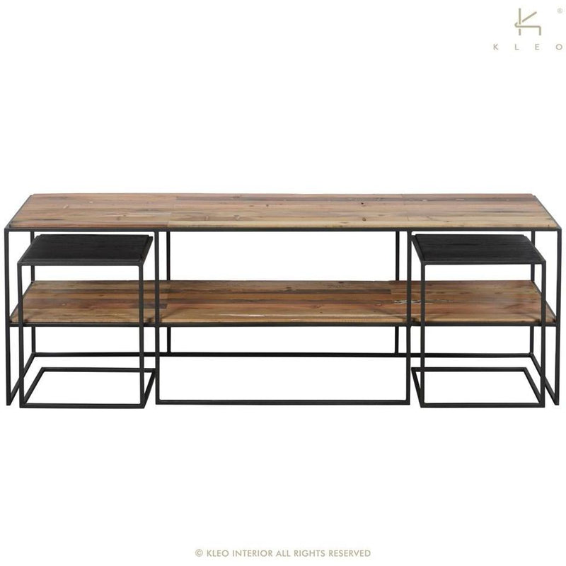 Sublime TV Stand Sidetables S/3