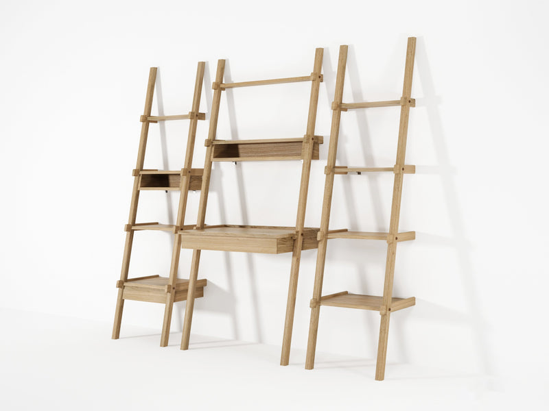 Simply City Ladder Shelves - European Oak