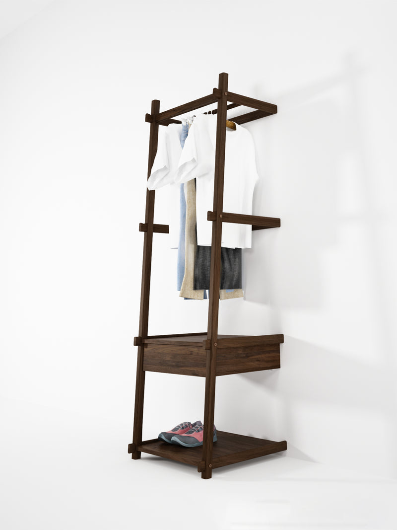 Simply City Ladder Standing Hanger - American Walnut