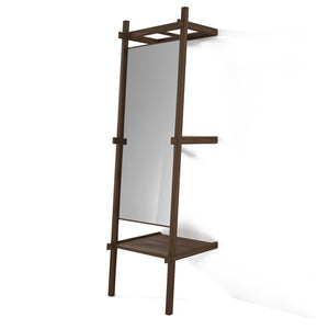 Simply City Standing Mirror - American Walnut