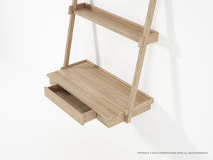Simply City Hanging Desk - European Oak