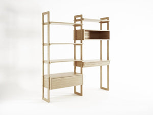 Soho Wall Unit Double - European Oak