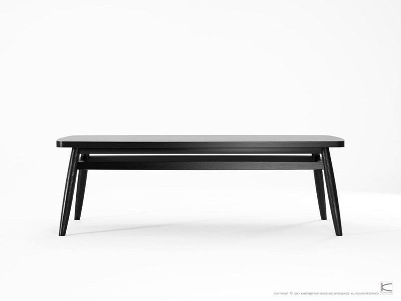 Twist Coffee Table 120cm - Satin Black