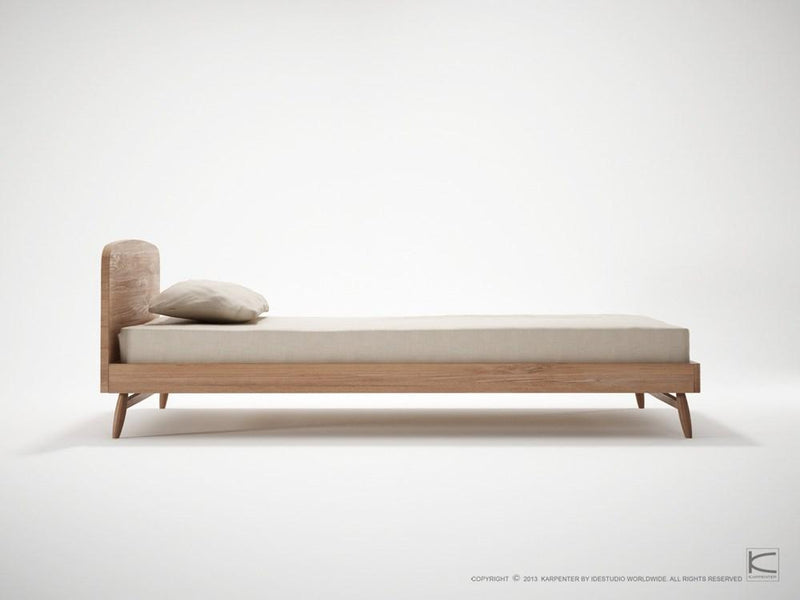 Twist Single Bed - FSC Recycled Teak-Indoor Furniture-Karpenter-Teak Brown-FSC-Certified Recycled Teak-SLH AU