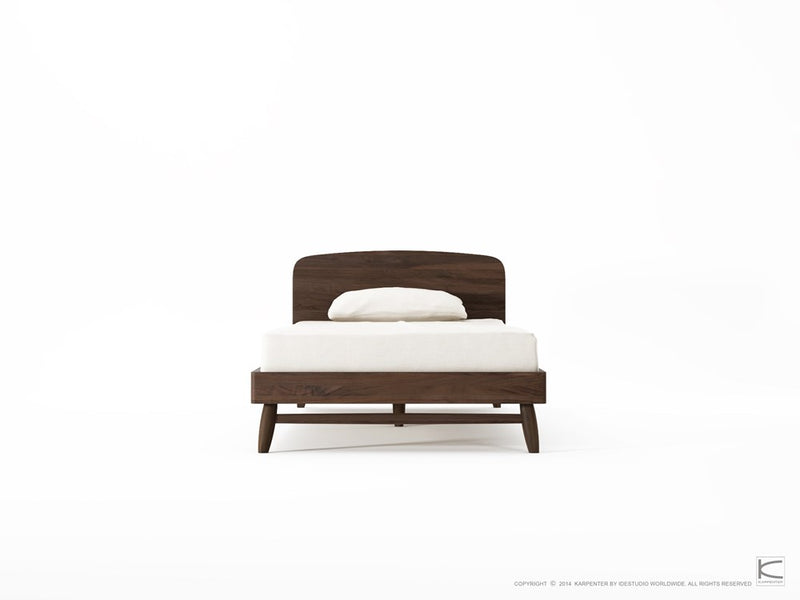 Twist Single Bed - American Walnut-Indoor Furniture-Karpenter-American Dark Walnut-American Black Walnut-SLH AU