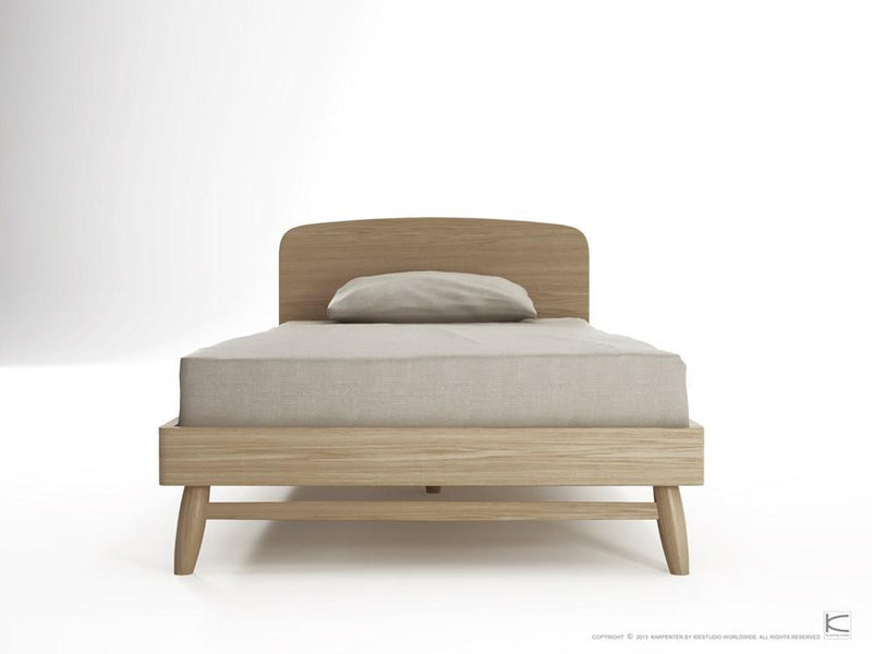 Twist King Single Bed - European Oak
