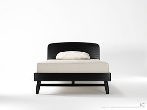 Twist King Single Bed - Satin Black