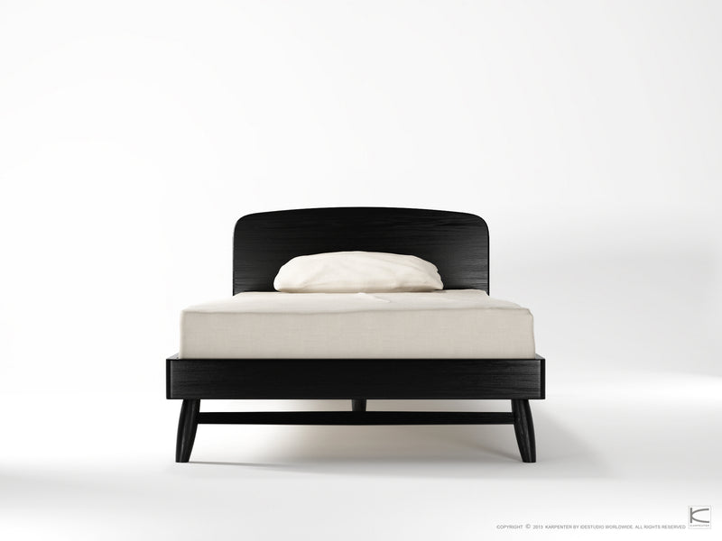 Twist King Single Bed - Satin Black-Indoor Furniture-Karpenter-Black Stained Oak-Black Stained European Oak-SLH AU