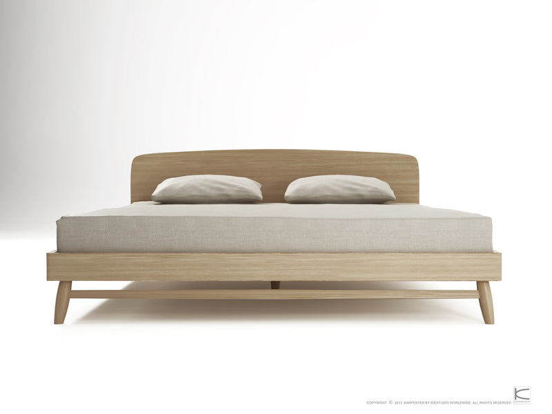 Twist Queen Bed - European Oak-Indoor Furniture-Karpenter-Neutral Oak Wood-European Oak-SLH AU