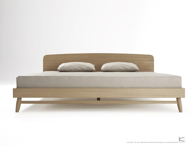 Twist King Bed - European Oak