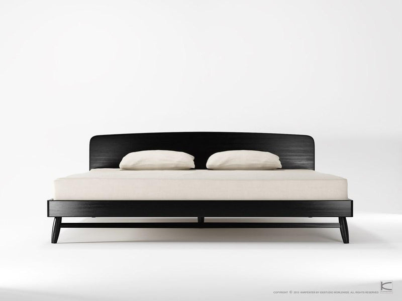 Twist King Bed - Satin Black