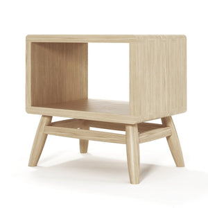 Twist Bedside - European Oak