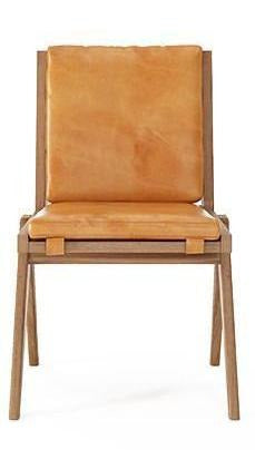 Tribute Chair FSC Recycled Teak with Tan Cognac