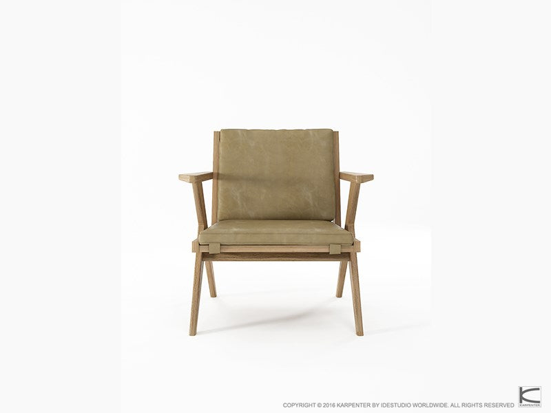 Tribute Easy Chair - European White Oak with Safari Grey