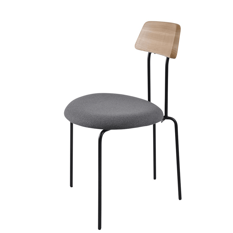 Aria Dining Chair Black|Oak|Grey