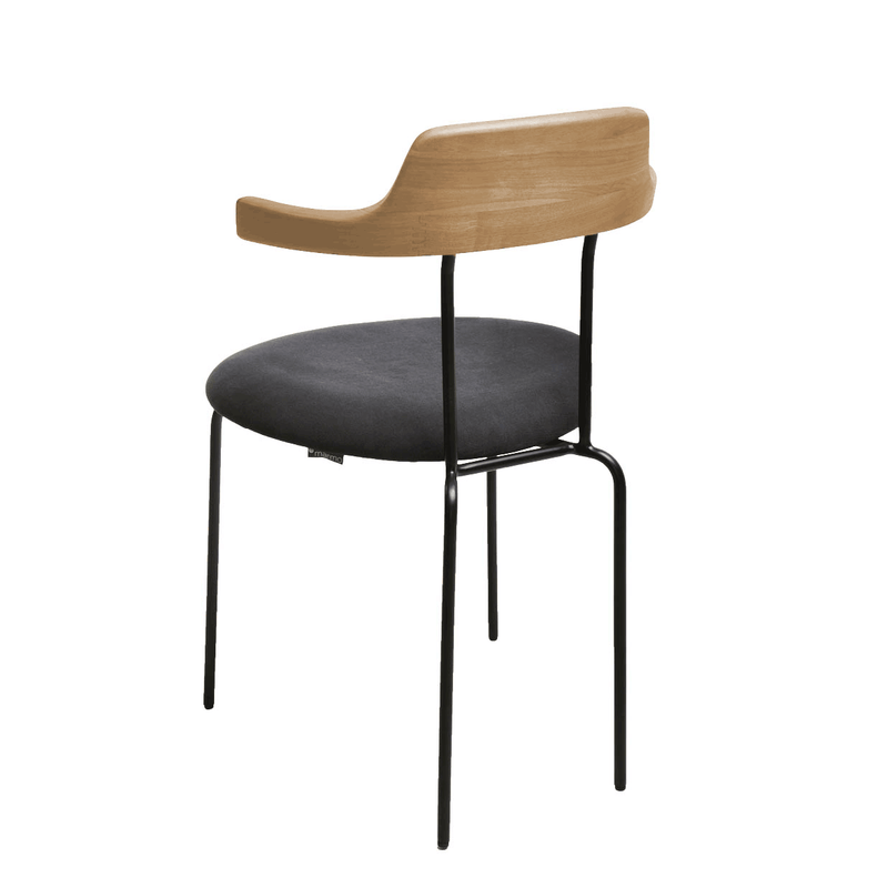 Aria Armchair Black|Oak|Telegrey