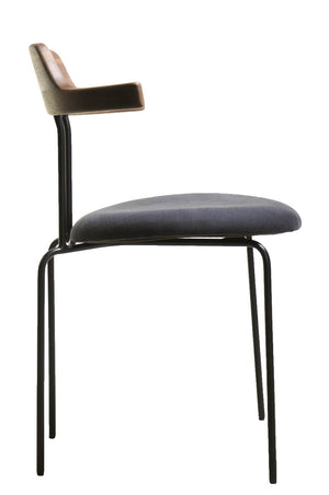 Aria Dining Armchair Black|Walnut|Navy