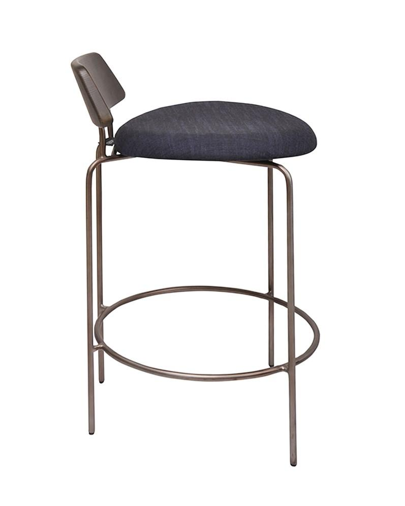 Aria Counter Stool Gunmetal|Dark Oak|Blu