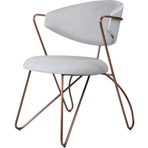 Loop Dining Chair Copper|Grey Seat
