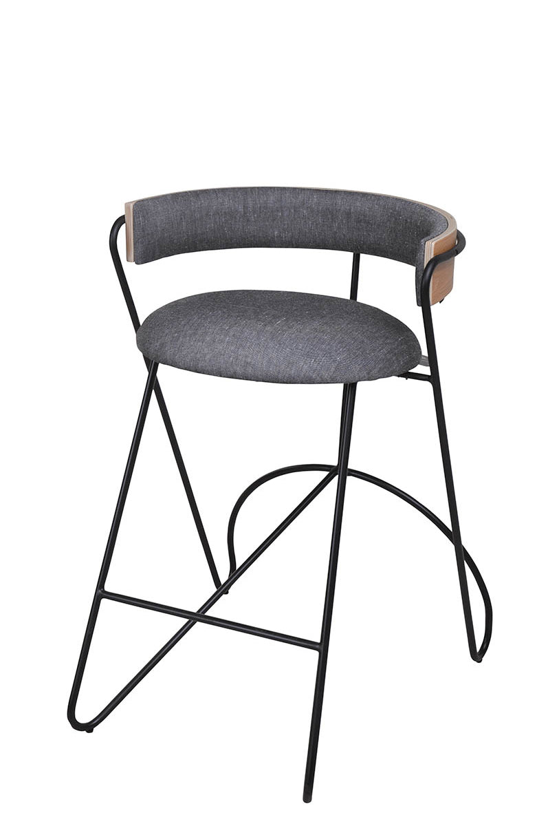 Loop Barstool Black|Oak|Grey