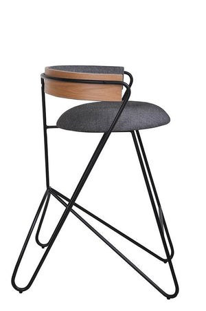 Loop Counter stool Black & Grey