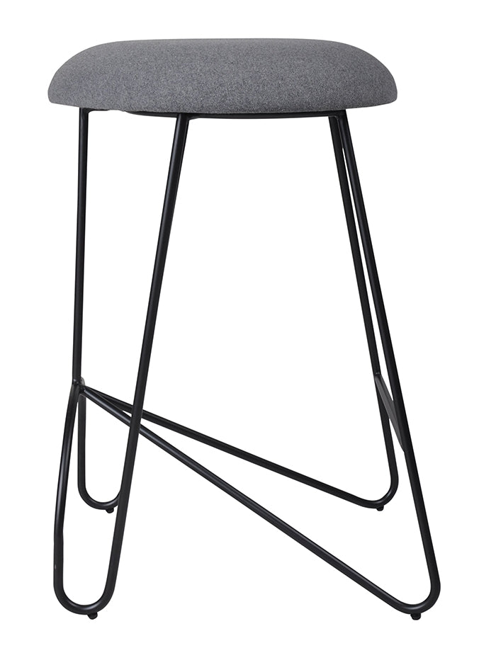 Loop Backless Counter Stool Black|Telegrey