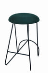 Loop Backless Counter Stool Black| Moss Green