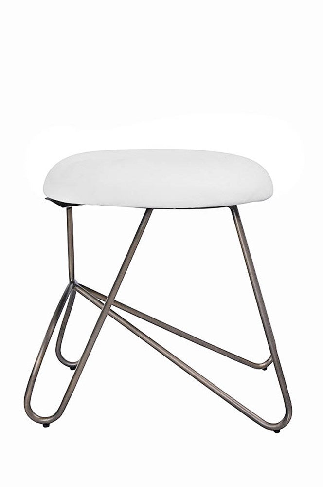 Loop Low Stool Bronze| White