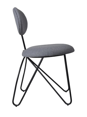 Loop Armless Dining Chair Black,Telegrey