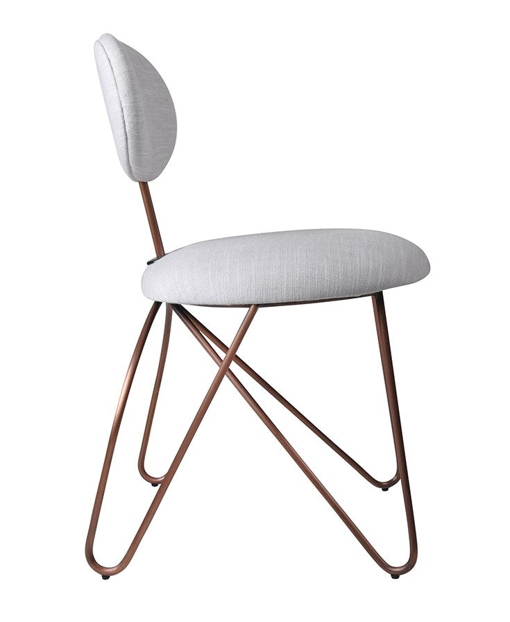 Loop Armless Dining Copper|Grey