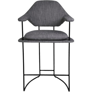 Mova Counter Stool Blk Frm| Grey