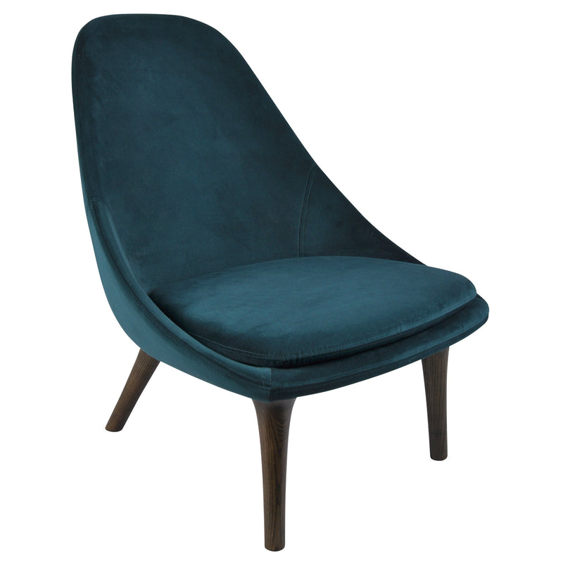 Tundra Lounge Chair Dark Oak | Velvet