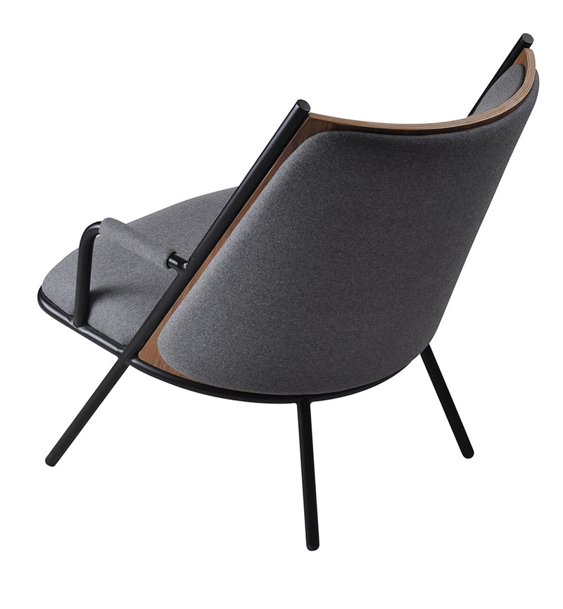 Zafra Lounge Chair Low Back Black|Grey