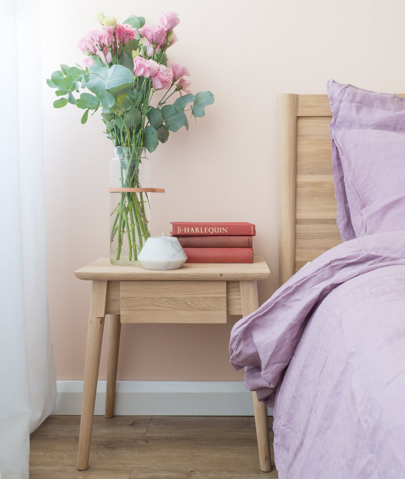 Vintage Tall Bedside - European Oak