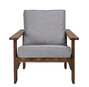 Rustic Lounge Chair Grey