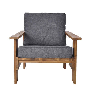 Rustic Lounge Chair Black